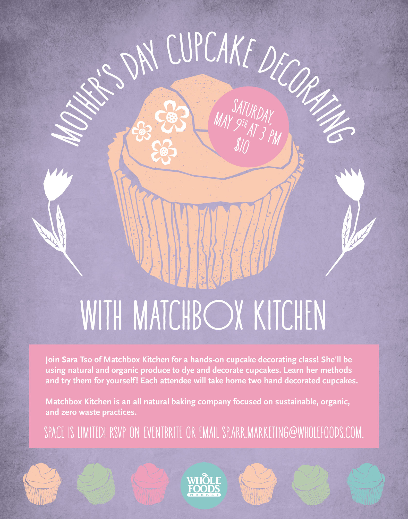 Cupcake Decorating Class at Whole Foods — Matchbox Kitchen