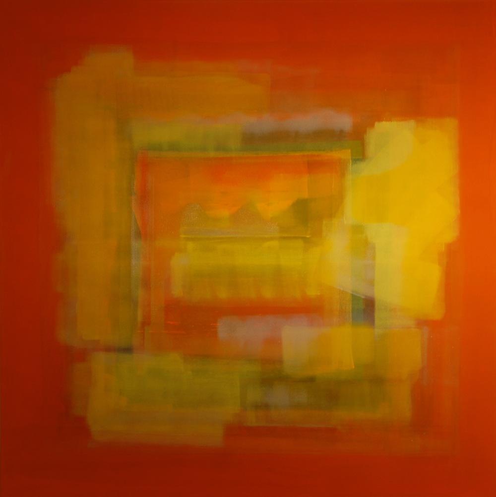 """""""Summer Fruits"""" (2014), acrylic on canvas, 48"""" x 48"""""""