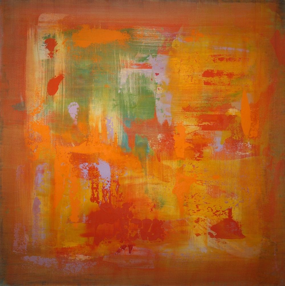 """""""Icaria"""" (2015), acrylic on canvas, 36"""" x 36"""""""