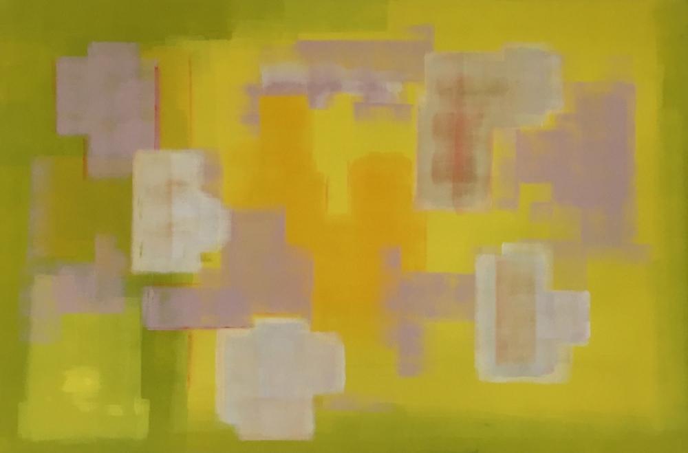"""""""The Lemon Garden"""" (2014), acrylic on canvas, 72"""" x 48"""""""