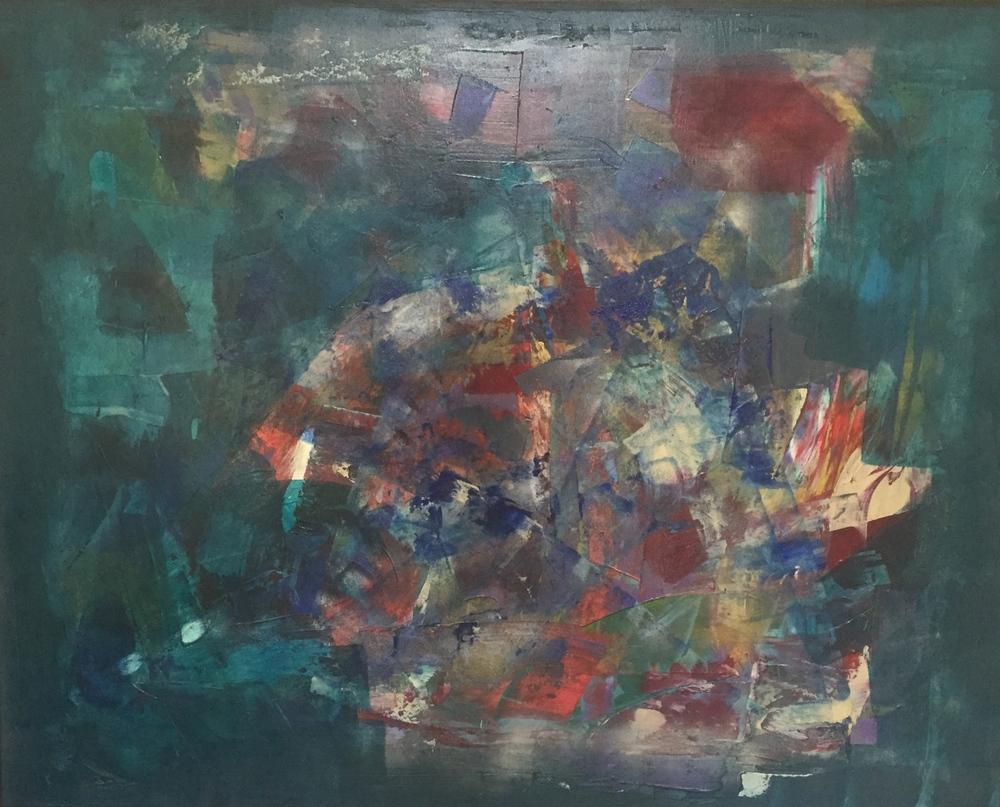 """The Aviary"" (2014), acrylic on canvas, 60"" x 48"""