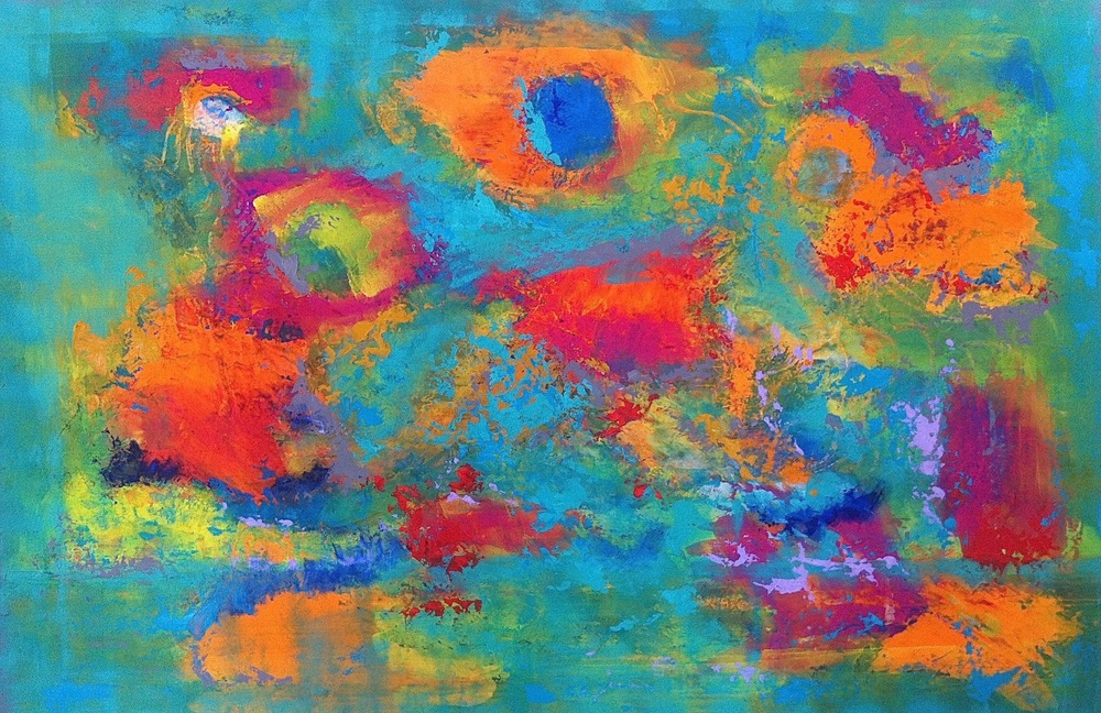 """The Sea Garden"" (2015), acrylic on canvas, 72"" x 48"""