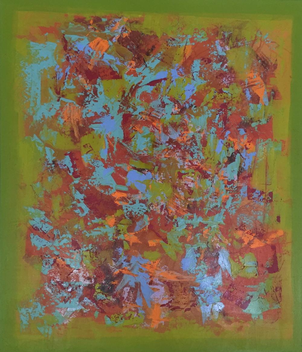 """Butterflies"" (2014), acrylic on canvas, 46"" x 54"""