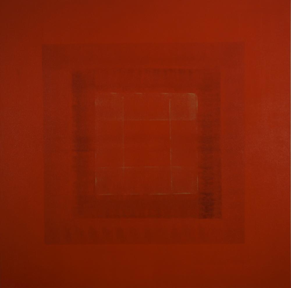 """Tribute to the Dalai Lama"" (2015), acrylic on canvas, 48"" x 48"""