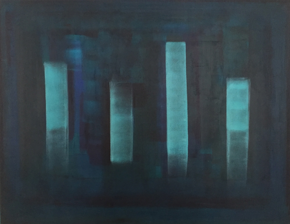 """""""The Towers of Strength"""" (2015), acrylic on canvas, 60"""" x 48"""""""