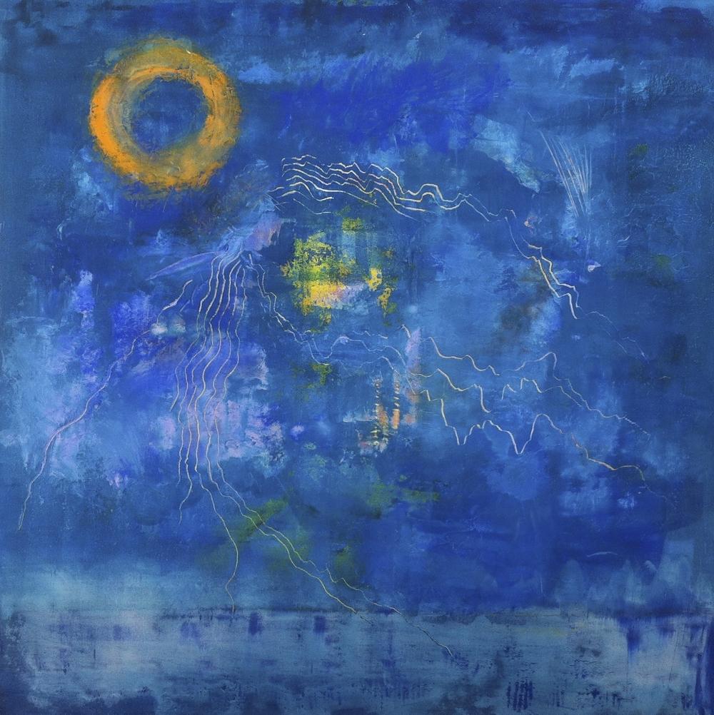 """Above Icaria"" (2014), acrylic on canvas, 48"" x 48"""