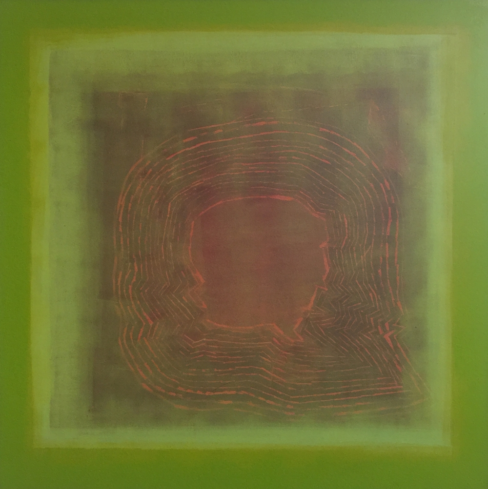 """Hypothetical Alignments"" (2014), acrylic on canvas, 36"" x 36"""