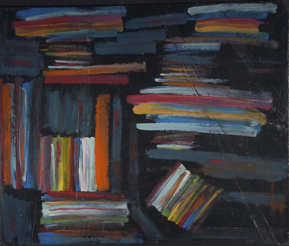 """Books"" (1992), acrylic on board"