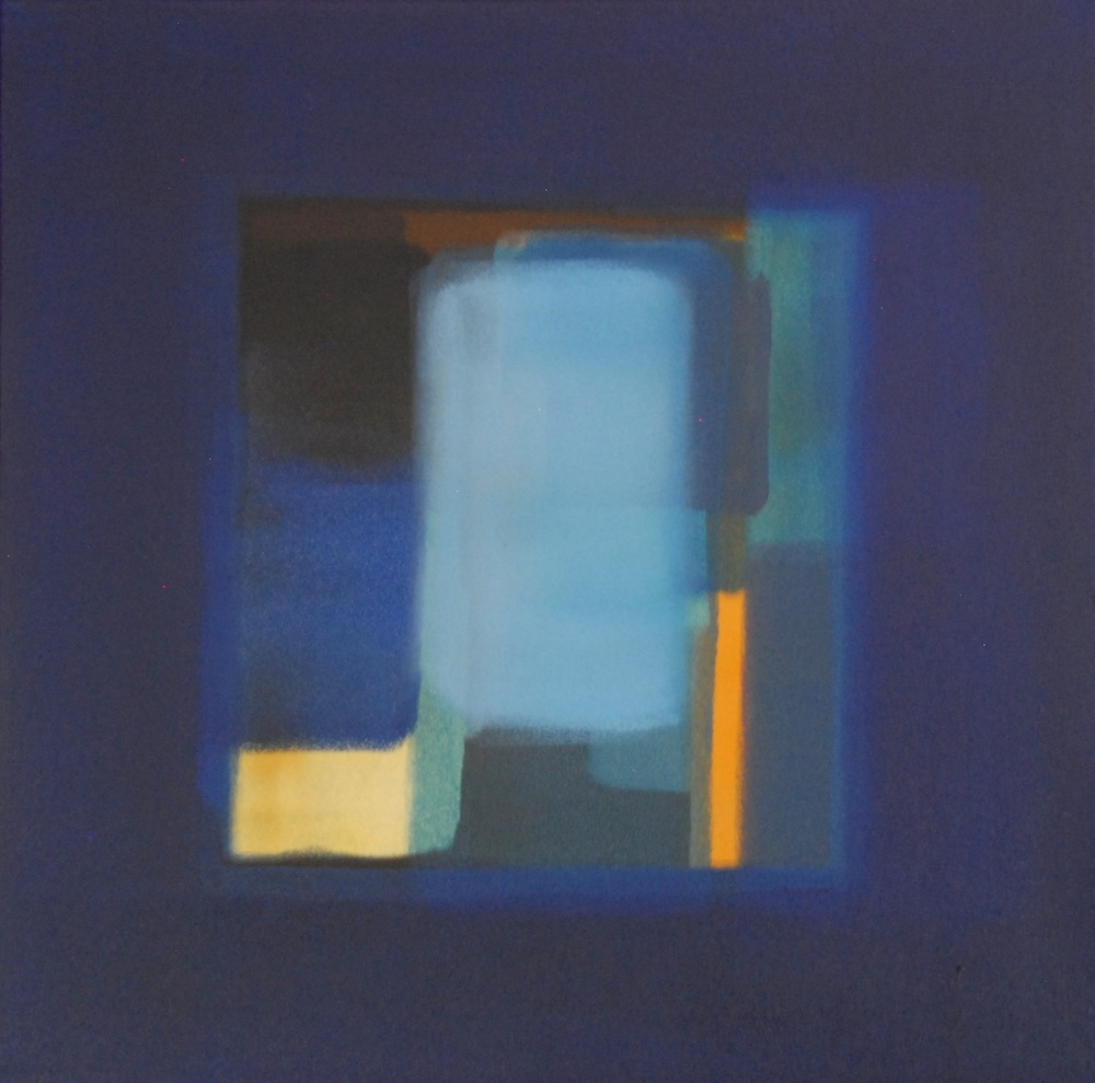 """""""The Labyrinth"""" (2013), acrylic on canvas, 18"""" x 18"""""""