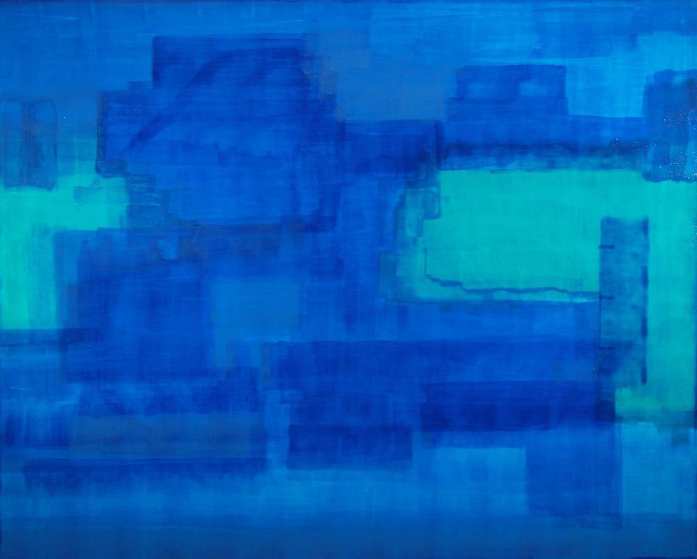 """The Aquarium"" (2012), acrylic on canvas, 54"" x 48"""