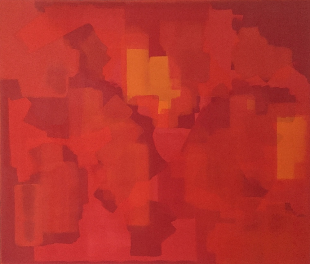 """""""Oncoming"""" (2011), acrylic on canvas, 54"""" x 46"""""""
