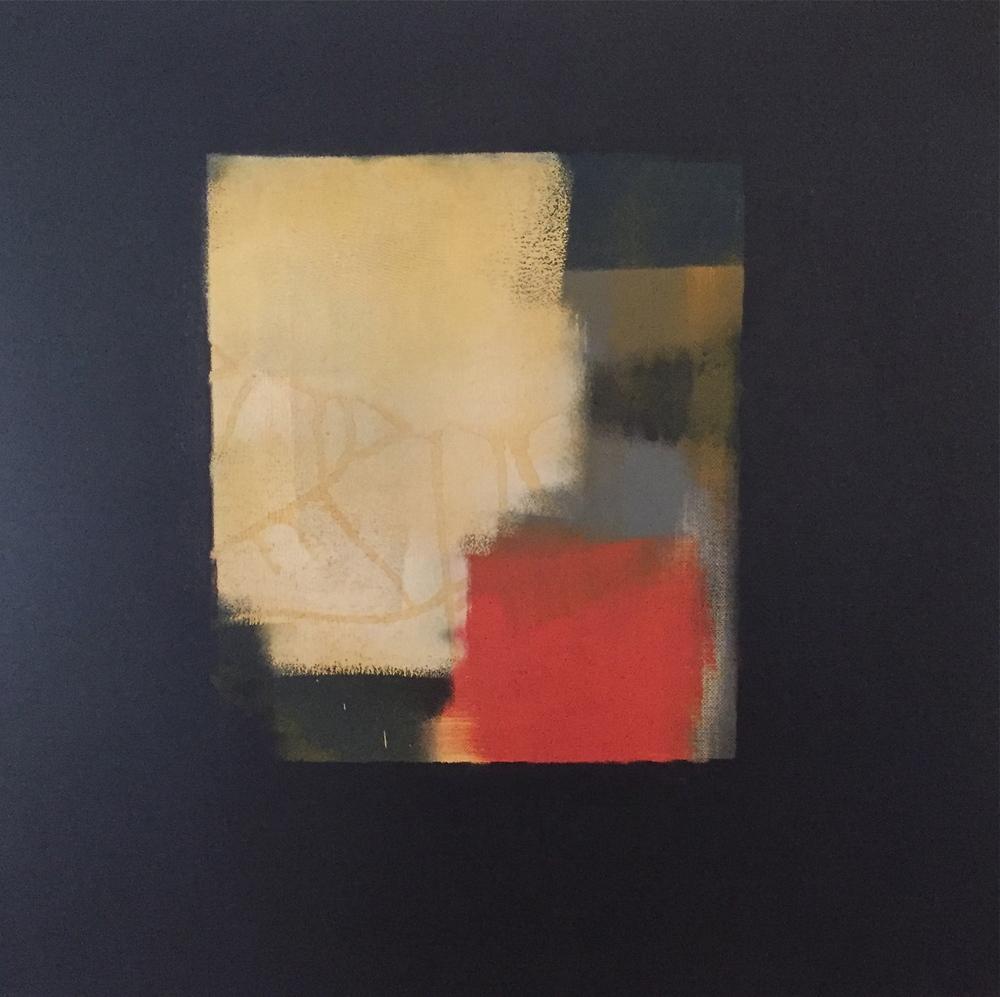"""""""Encroachment"""" (2014), acrylic on canvas, 18"""" x 18"""""""