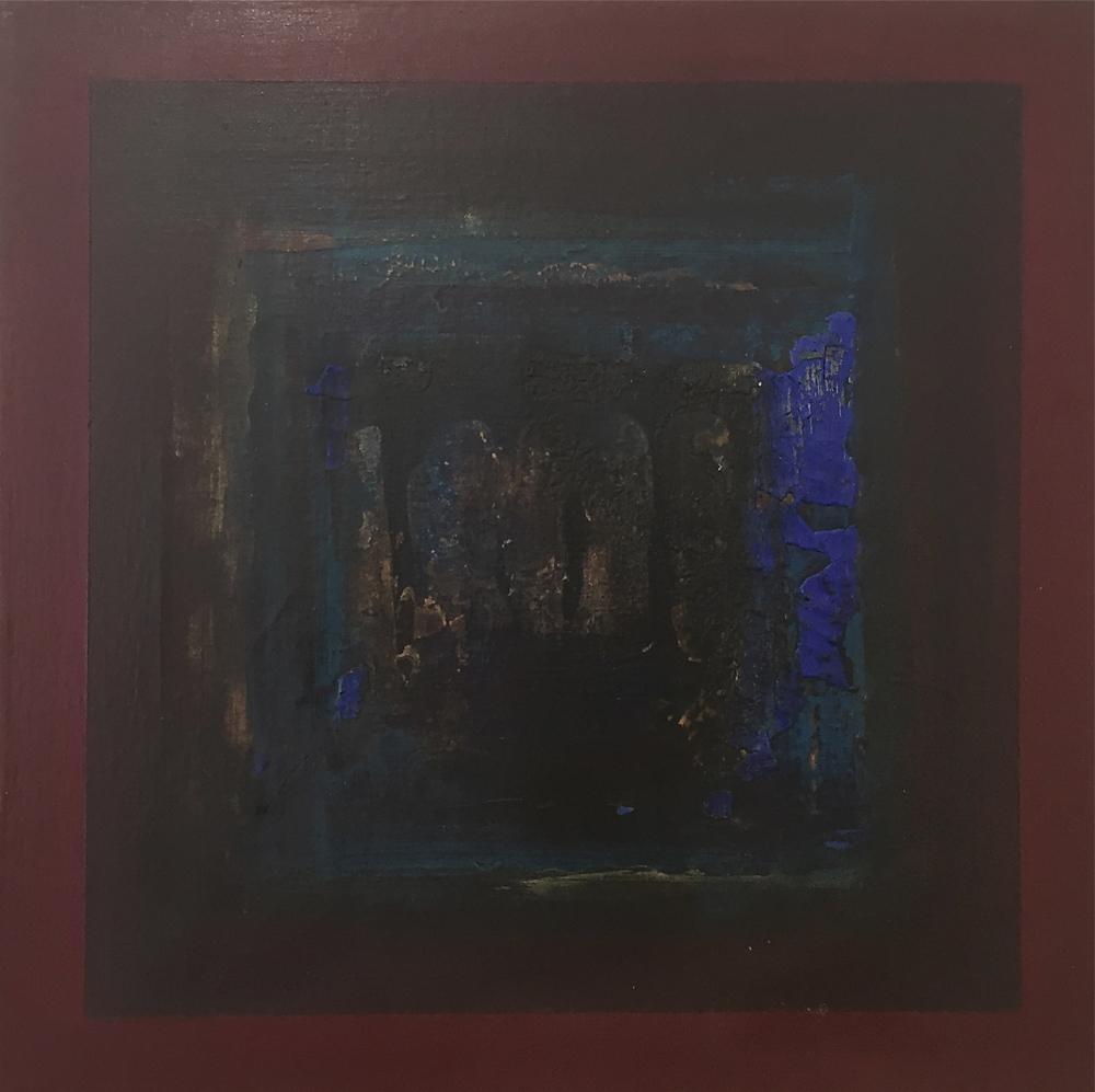 """""""The Split"""" (2006), acrylic on canvas, 12"""" x 12"""""""
