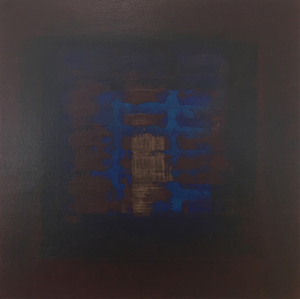 """Two Sea Suns Behind"" (2006), acrylic on canvas, 12"" x 12"""