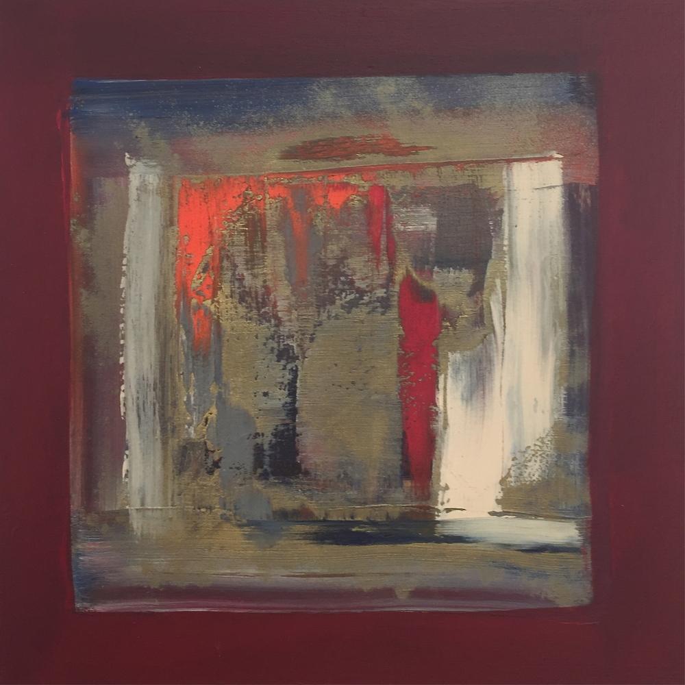 """""""The Burst"""" (2006), acrylic on canvas, 12"""" x 12"""""""
