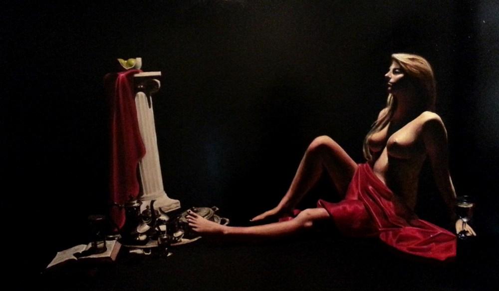 """Sedictone Jacet"" (2013), oil on canvas, 120"" x 78"""