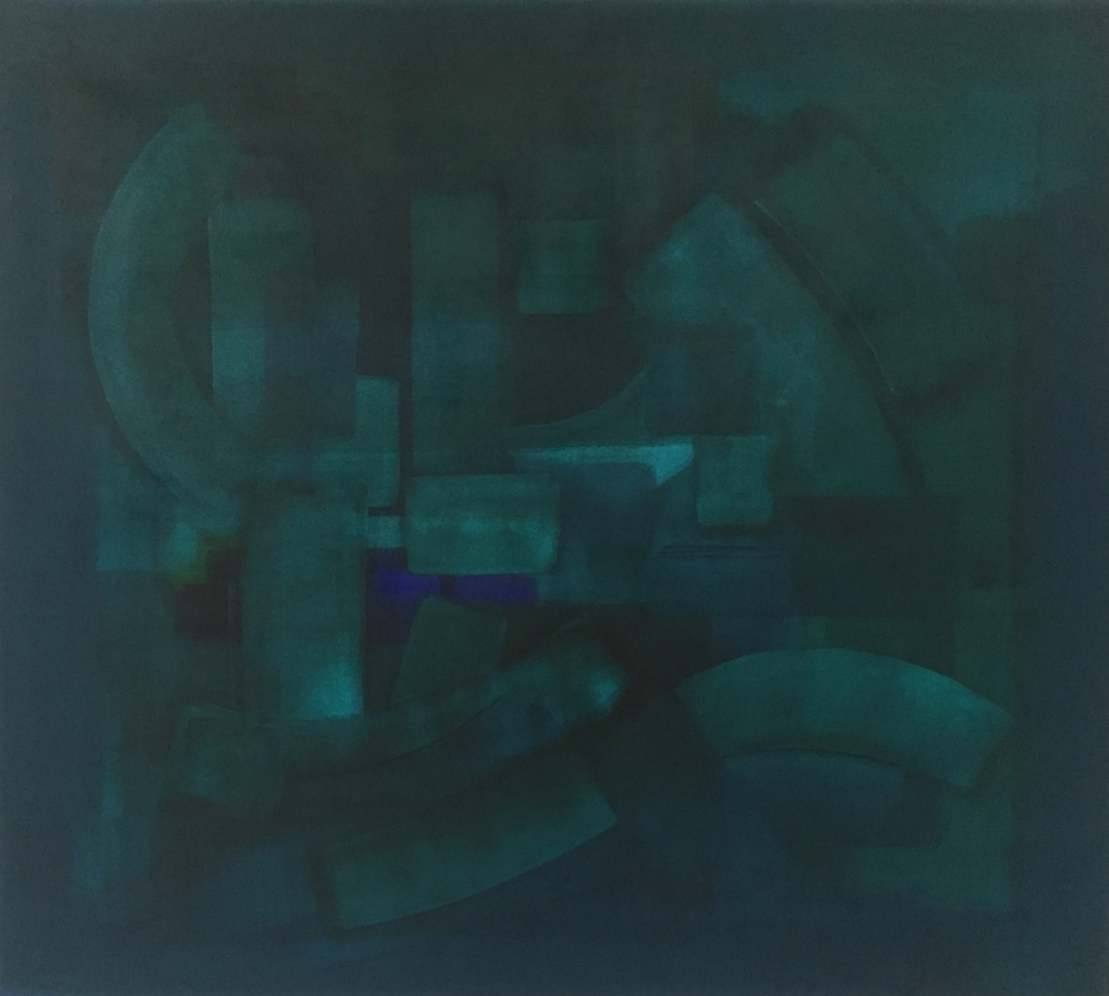 """""""The Opening"""" (2014), acrylic on canvas, 54"""" x 48"""""""