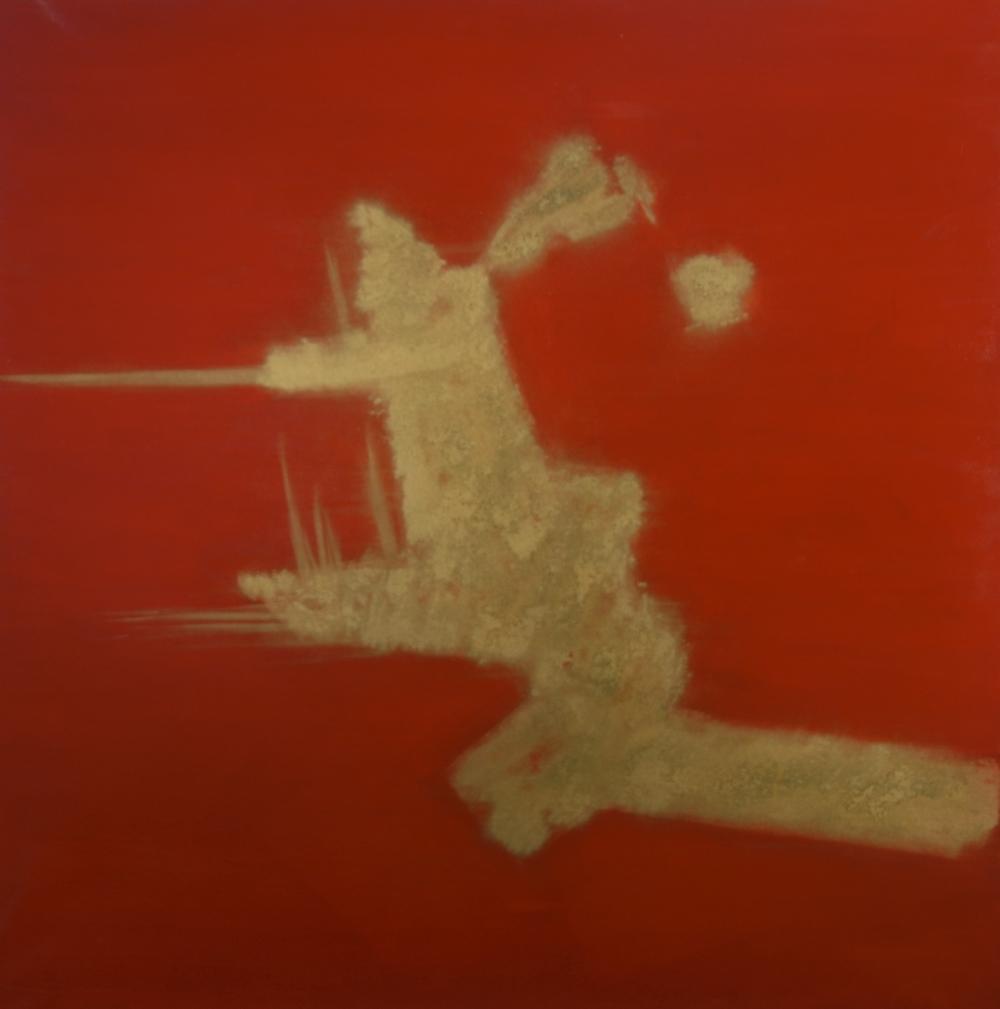 """""""The Lighthouse"""" (2010), acrylic on canvas, 48"""" x 48"""""""