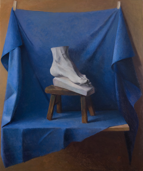 """Foot Stool"" (2008), oil on linen, 36"" x 40"""