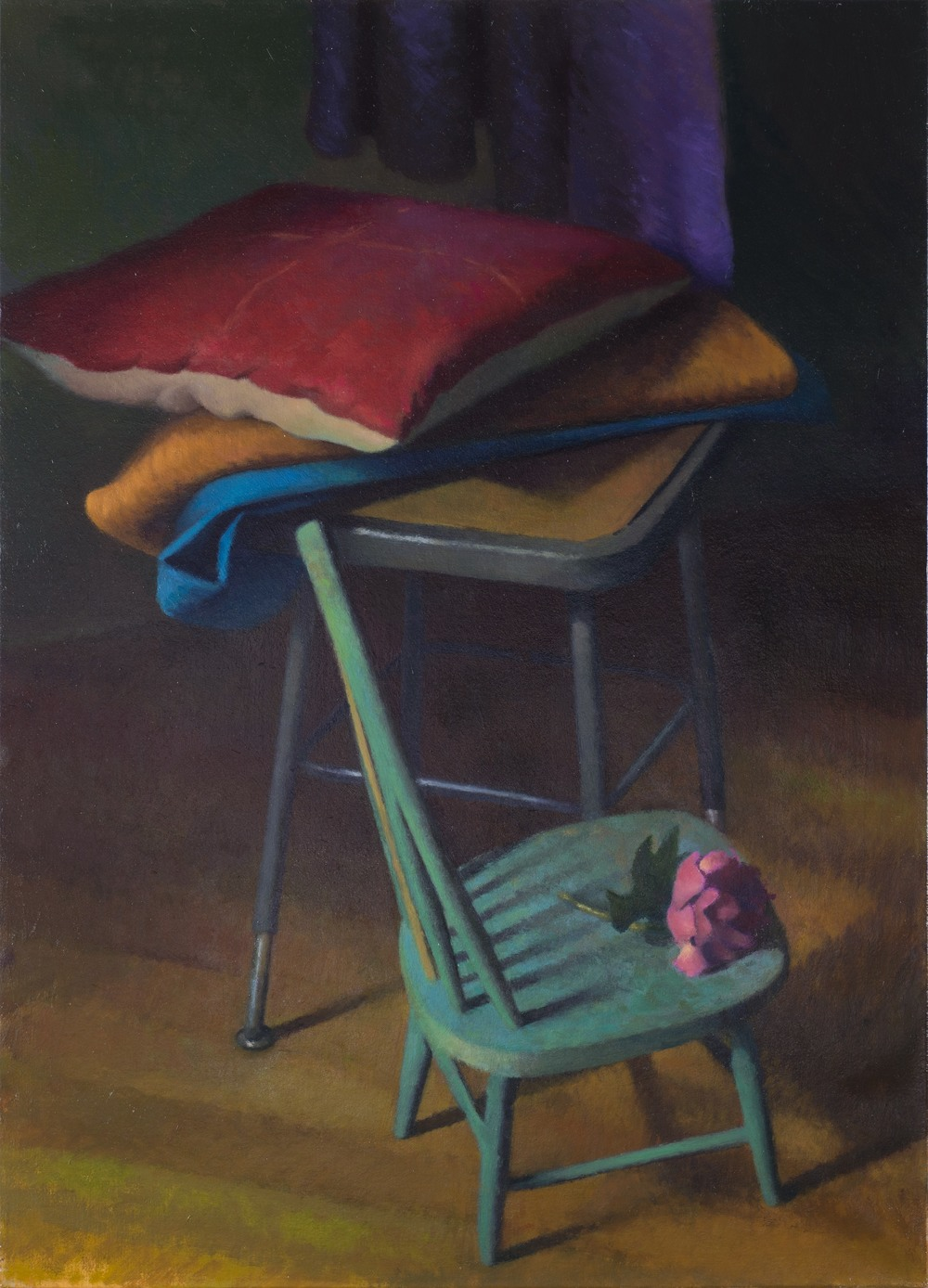 """A Safe Place"" (2015), oil on linen on panel, 18"" x 24"""