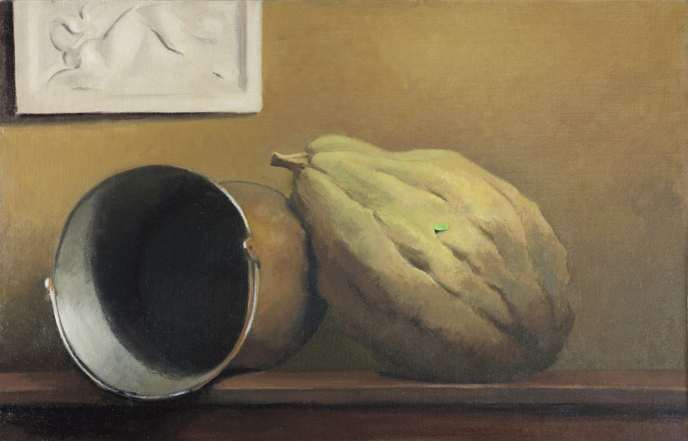 """Made or Grown"" (2008), oil on linen on panel, 21"" x 32"""