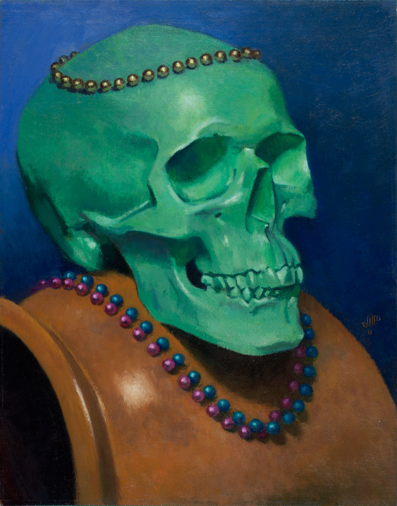 """The Blind King"" (2011), oil on linen on panel, 11"" x 14"""