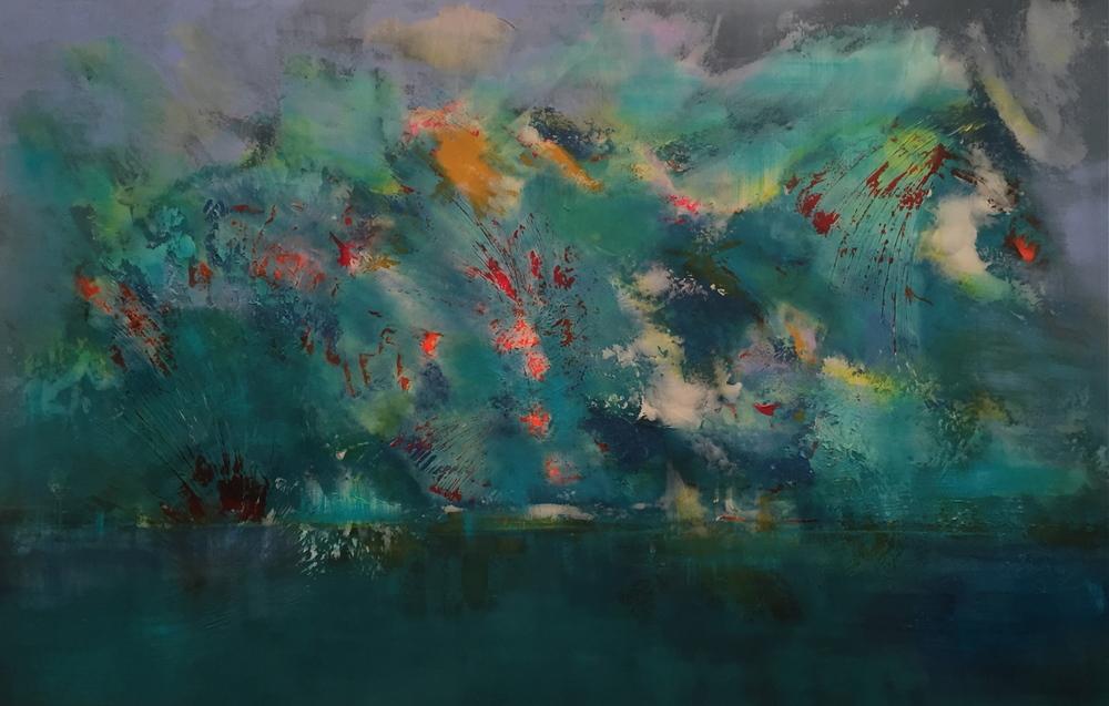"""The Beautiful Fourth"" (2016), acrylic on canvas, 72"" x 48"""