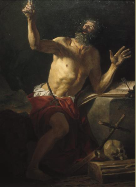 """St. Jerome"" (2001), oil on linen, 20"" x 24"""