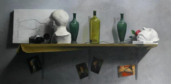 """If I Knew Then What I Know Now"" (2004), oil on linen, 28"" x 54"""
