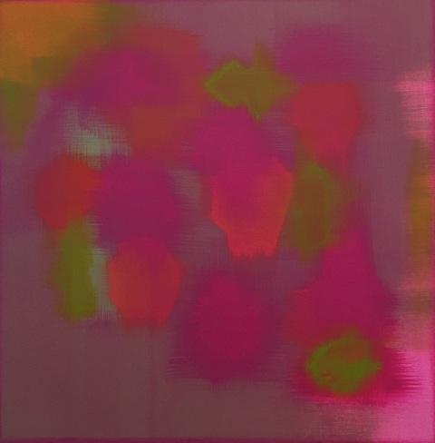 """""""The Azaleas"""" (2016), acrylic on canvas, 18"""" x 18"""""""