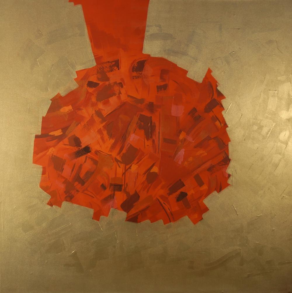 """LA Rush Hour"" (2011), acrylic on canvas, 72"" x 72"""