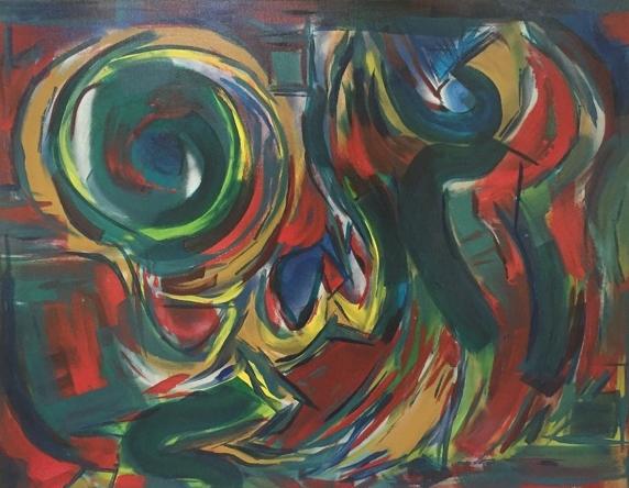 """The Big Easy Band"" (2010), acrylic on canvas, 60"" x 48"""