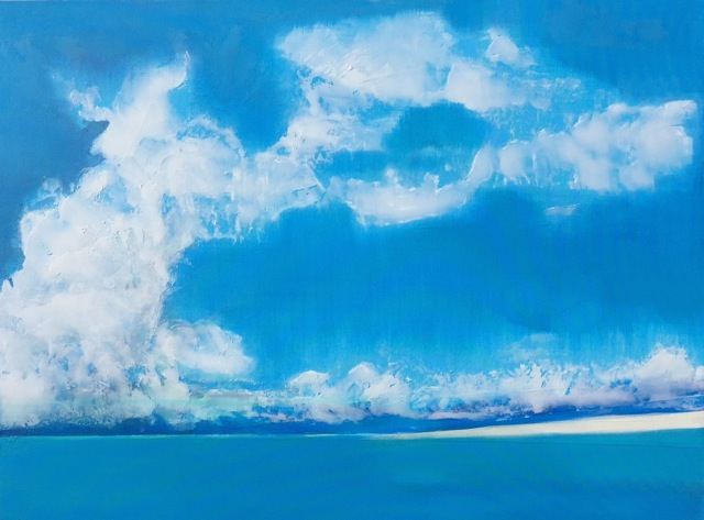 """""""The Gathering of the Sea Clouds"""" (2016), acrylic on canvas, 36"""" x 48"""""""