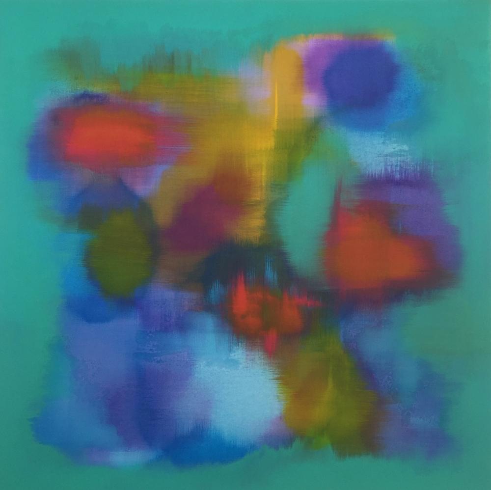 """""""The Clown Fish"""" (2016), acrylic on canvas, 36"""" x 36"""""""