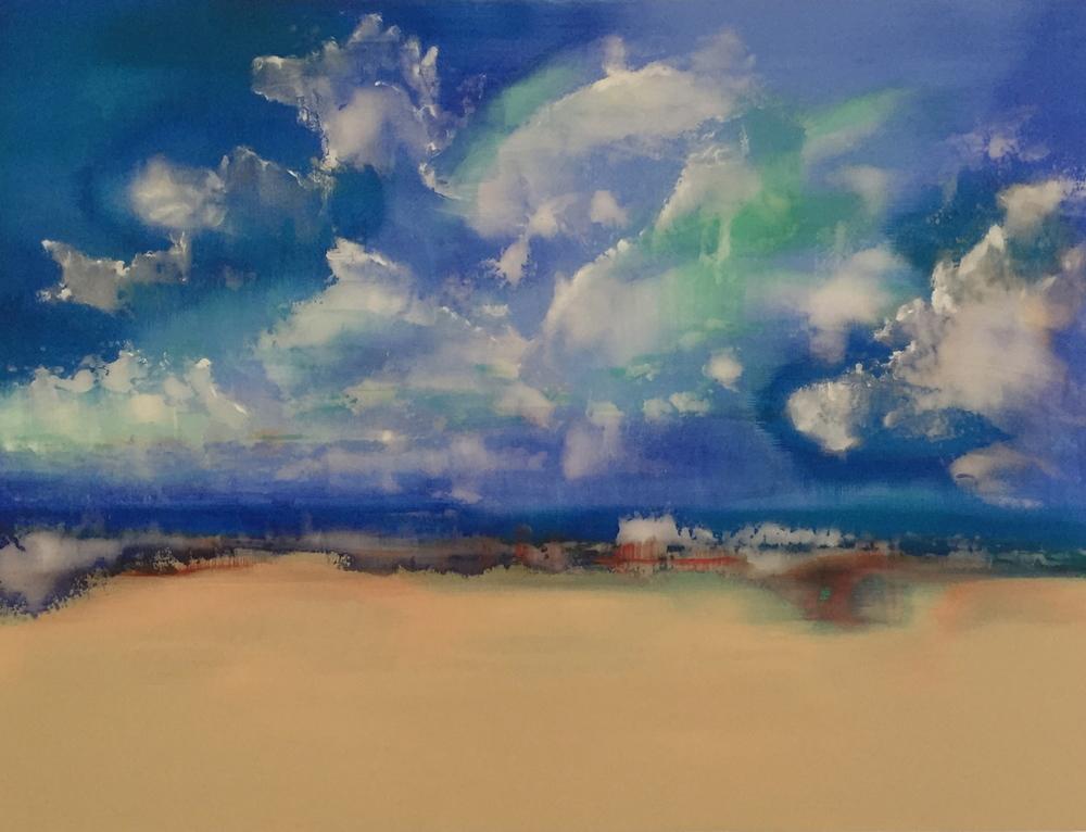"""""""Across the Dunes"""" (2016), acrylic on canvas, 48"""" x 36"""""""