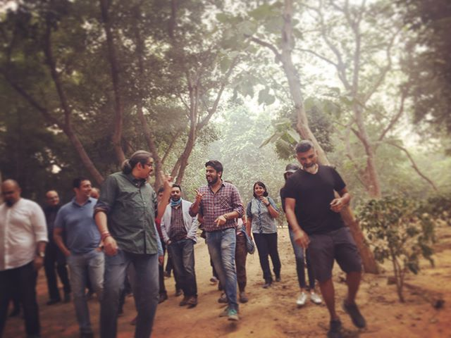 #walktherock at #delhiwalkfestival with @ishqsarthak, #dilipramachandran, @andazdelhi walking through the Hauz Khas park and reliving the history of #rockmusic in #delhi and #india. Was truly memorable.  @salt_xp #andazdelhi #flyswiss @incredibleindia #ishqfm #socialoffline #incredileindia. #saltxp