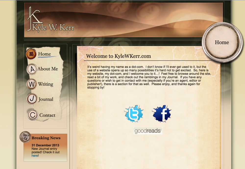 The original kylewkerr.com, circa 2007!