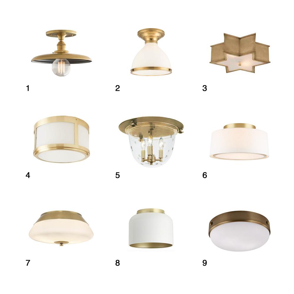 brass flush mount lighting