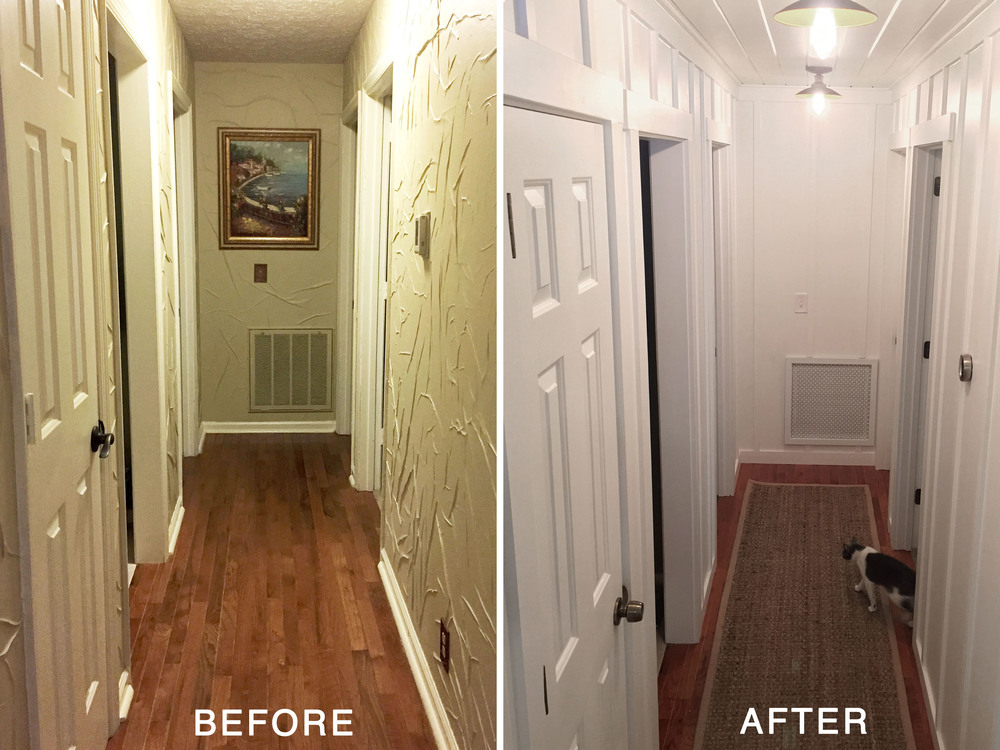 hallway renovation before & after