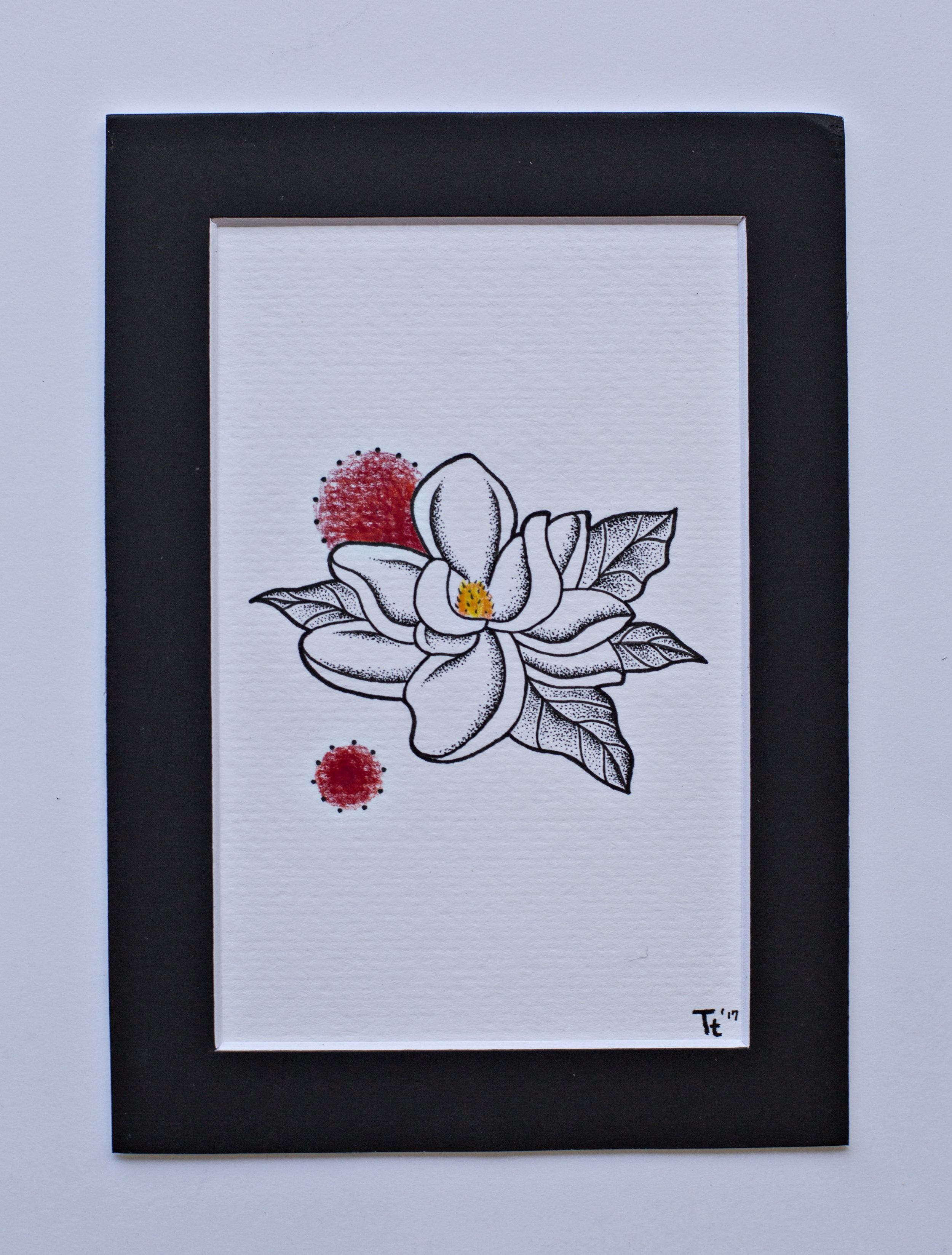 Magnolia Flower Black Spot Tattoo Co