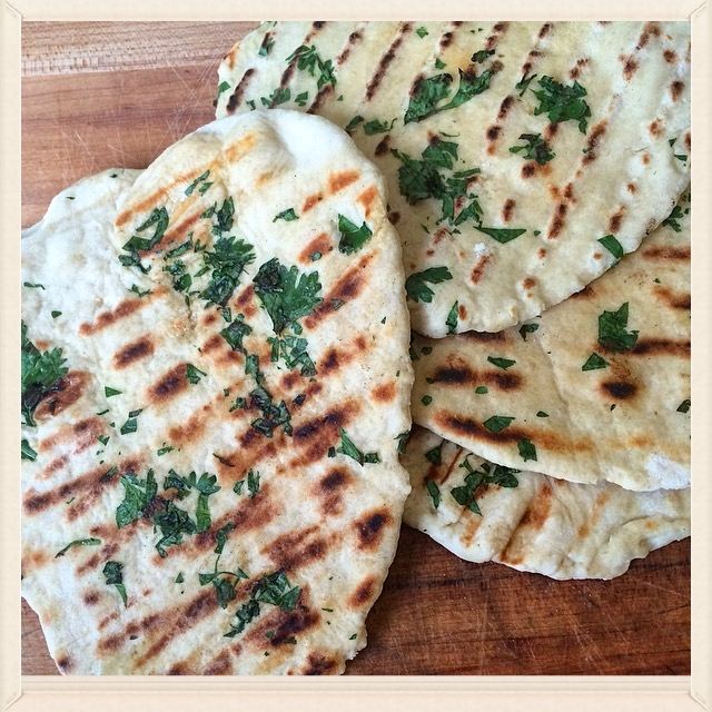 Coconut Basil Chicken & Garlic Naan