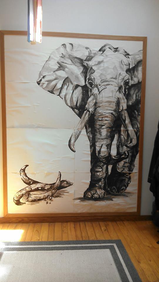 Elephant 9' x 7'