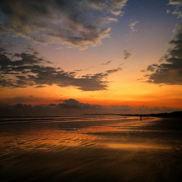 Costa Rican beach sunset