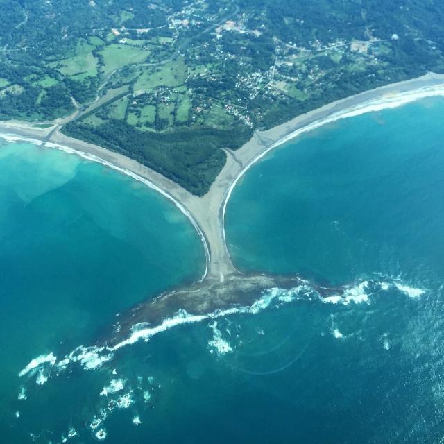 Views to Puerto Jimenez from San Jose - Whale tail