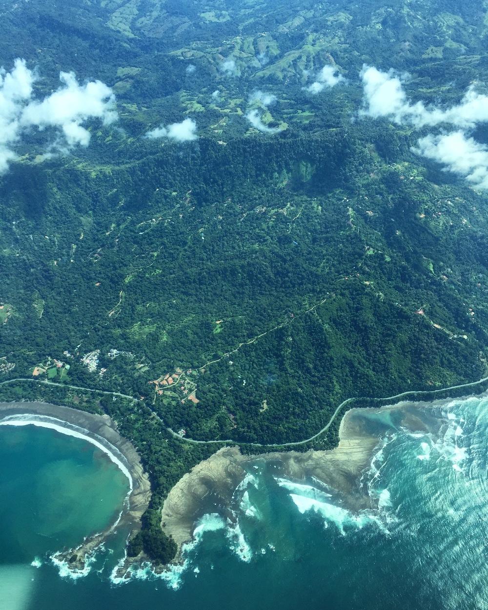 Views to Puerto Jimenez from San Jose - Rainforest, Coast & Sea