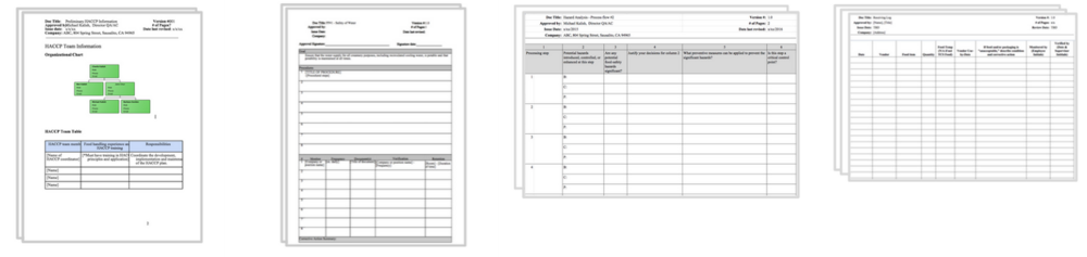 Haccp Templates. haccp procedures template pre requisite sanitation ...