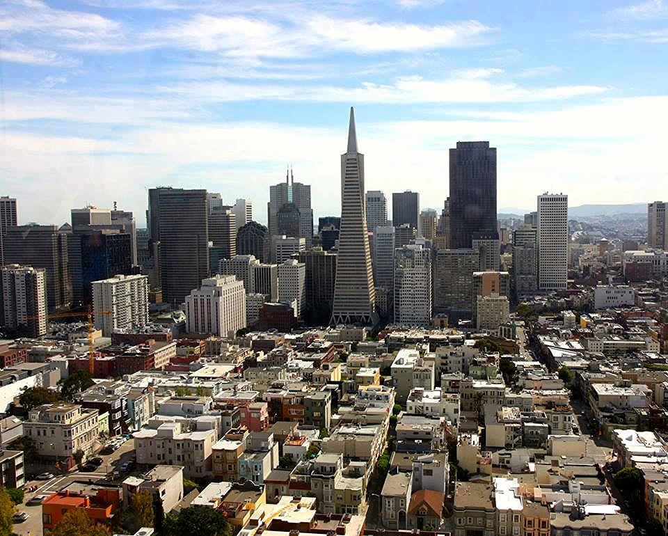 The view of the city from Coit Tower