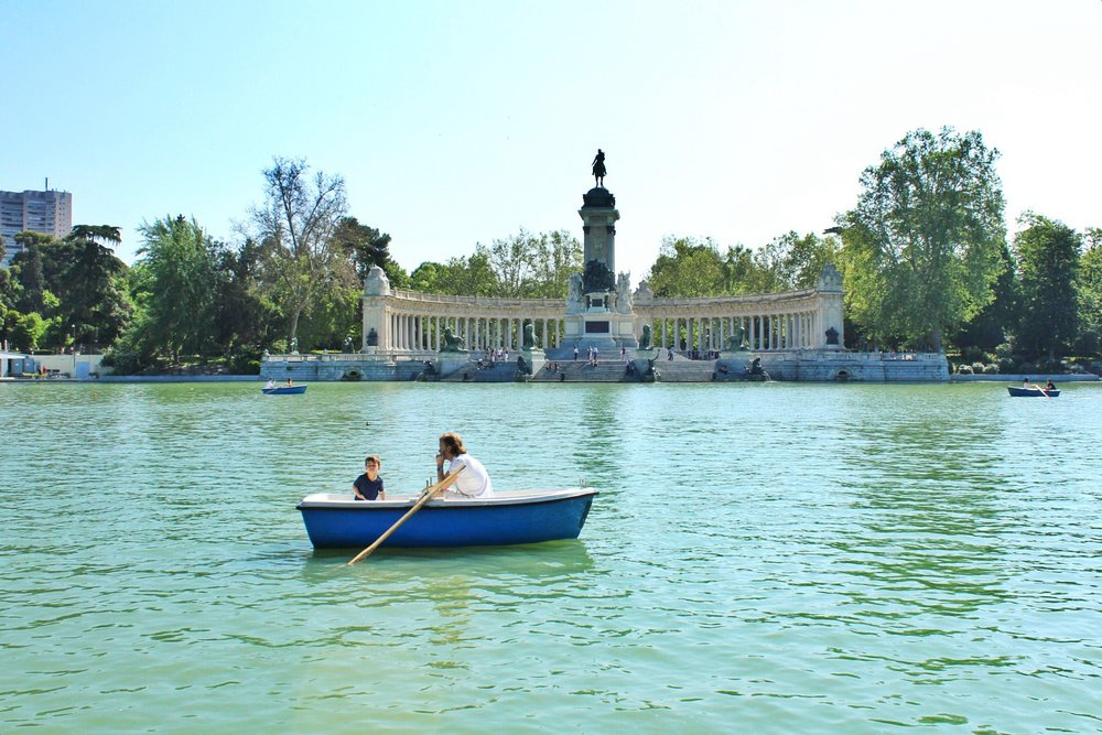 Wandering through the Retiro in Madrid.