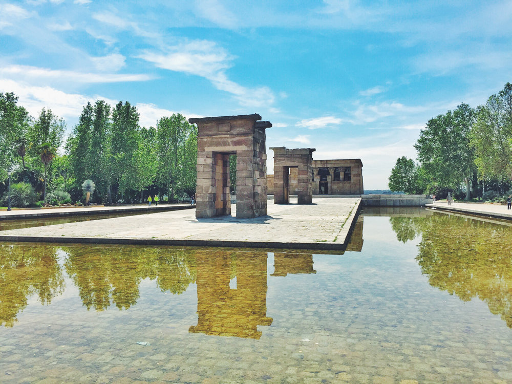 Wikerts in Wanderlust Temple of Debod Madrid Spain