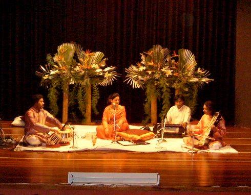 Radhika Chopra and the musicians.JPG